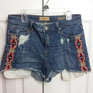 STS Blue Embroidered High Waist Jean Shorts